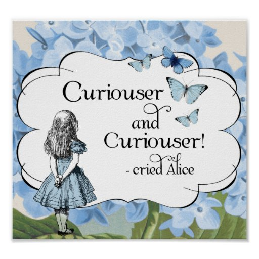 Alice in Wonderland Curiouser Butterflies Poster