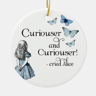 Alice in Wonderland Curiouser Butterfly Ornament