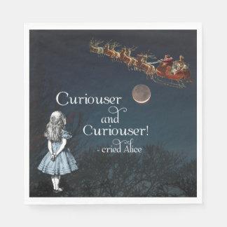 Alice in Wonderland Curiouser Christmas Napkins Paper Serviettes