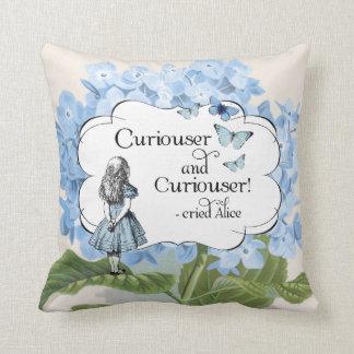 Alice in Wonderland Curiouser Hydrangea Pillow Throw Cushion
