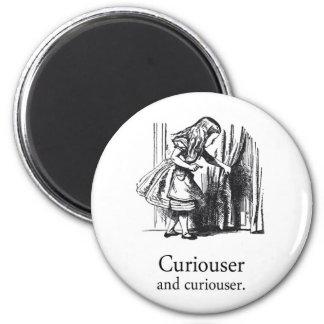Alice In Wonderland Curiouser Round Magnet