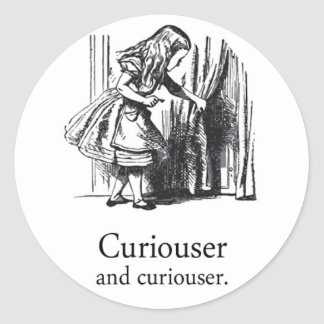 Alice In Wonderland Curiouser Round Sticker Set