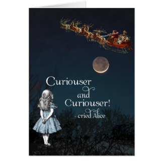 Alice in Wonderland Curiouser Santa Christmas Card