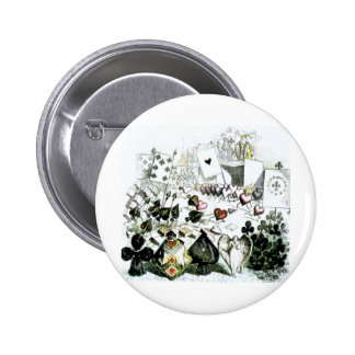 Alice in Wonderland Deck of Cards 6 Cm Round Badge