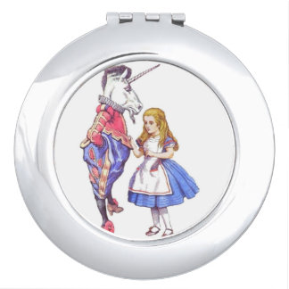 alice in wonderland design compact mirror