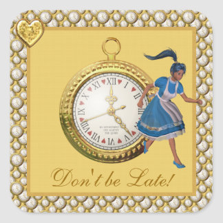 Alice in Wonderland Don't be Late Stickers