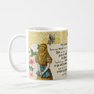 Alice in wonderland double quote gift mug, vintage coffee mug