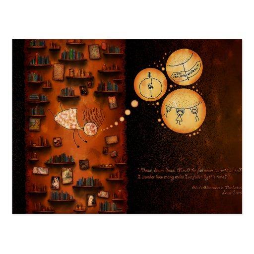 Alice in Wonderland-Down The Rabbit-Hole Postcards