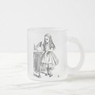 Alice in Wonderland Drink Me frosted coffee mug