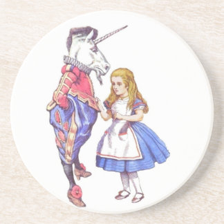 Alice in Wonderland drinks coaster