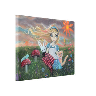 Alice in Wonderland Fantasy Fairytale Art Canvas Canvas Print