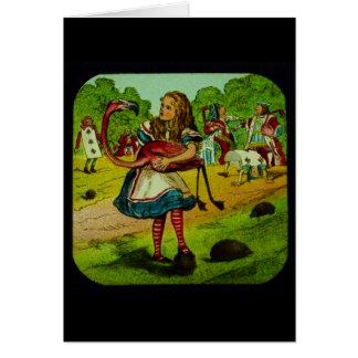 Alice in Wonderland Flamingo Croquet Card