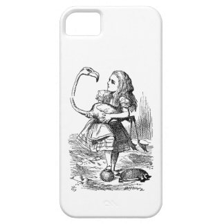 Alice in Wonderland flamingo croquet vintage print Barely There iPhone 5 Case