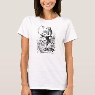 Alice in Wonderland flamingo illustration t-shirt