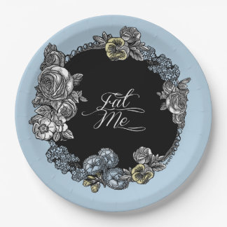 Alice in Wonderland Floral Paper Plate