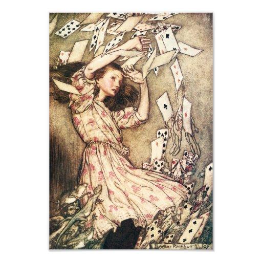 Alice in Wonderland Flying Cards Photo