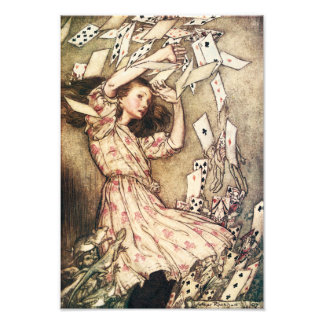 Alice in Wonderland Flying Cards Photographic Print