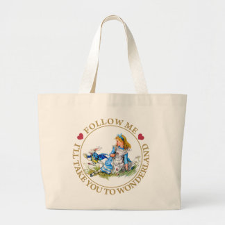 Alice In Wonderland - Follow Me Canvas Bags
