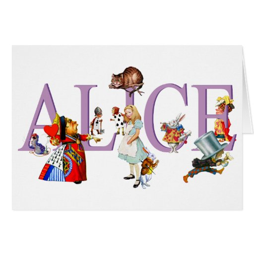 ALICE IN WONDERLAND & FRIENDS GREETING CARDS