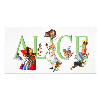 ALICE IN WONDERLAND & FRIENDS CUSTOMISED PHOTO CARD