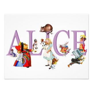 ALICE IN WONDERLAND FRIENDS CUSTOM INVITES