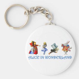 ALICE IN WONDERLAND & FRIENDS KEY RING