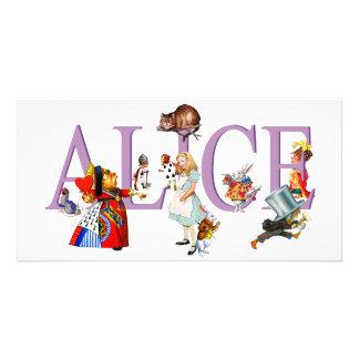 ALICE IN WONDERLAND & FRIENDS CUSTOM PHOTO CARD