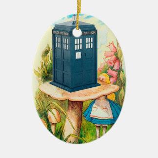 Alice in Wonderland Funny Call Box Ornament