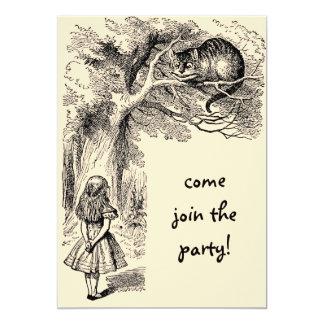 Alice in Wonderland Girl Birthday Party Invitation