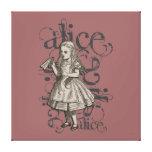Alice In Wonderland Grunge (Pink) Gallery Wrap Canvas