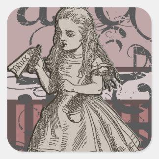 Alice In Wonderland Grunge Stickers