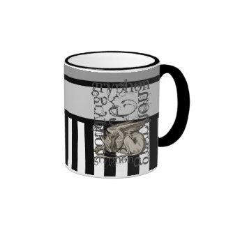 Alice In Wonderland Gryphon Grunge Ringer Mug