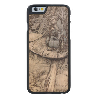 Alice in Wonderland Hookah Smoking Caterpillar Carved Maple iPhone 6 Case