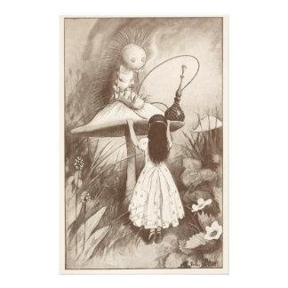 Alice in Wonderland, Hookah Smoking Caterpillar Personalized Stationery