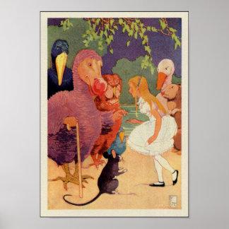 Alice in Wonderland Illustration ca. 1939 Poster