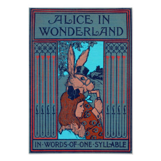 Alice In Wonderland 'In Words Of One Syllable' Poster