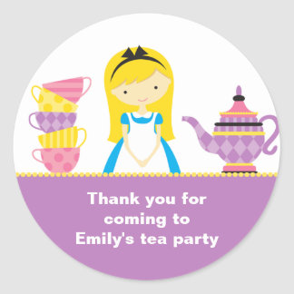 Alice in Wonderland Invitations Stickers
