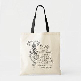 Alice In Wonderland Jabberwocky Poem Tote Bag