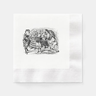 alice in wonderland Lion and the Unicorn napkin Disposable Napkins
