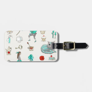 Alice in wonderland luggage tag