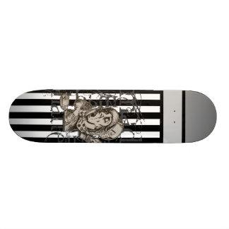 Alice In Wonderland Mad Hatter Grunge Custom Skateboard