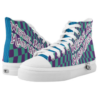 Alice In Wonderland Mad Hatter High Tops Colours