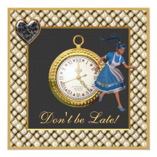 Alice in Wonderland Mad Hatter Tea Party Invites