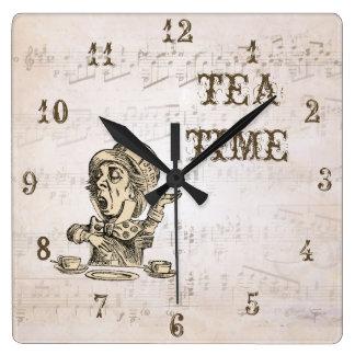 Alice in Wonderland Mad Hatter Tea Time Clock