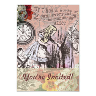 Alice in Wonderland Mad Tea Party Invitiation Card