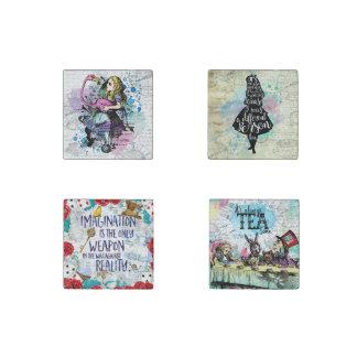 Alice in Wonderland marble magnet set