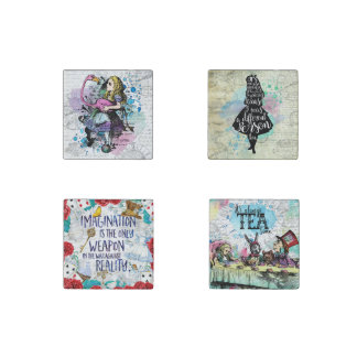 Alice in Wonderland marble magnet set Stone Magnet