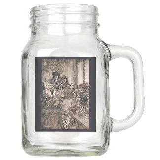 Alice in Wonderland Mug-Who Stole The Tarts Mason Jar