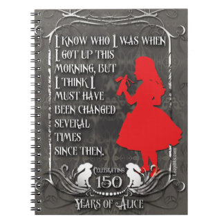 """Alice-In-Wonderland Notebook """"I Know Who I Was"""""""