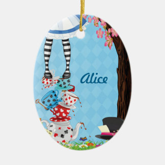 Alice in Wonderland Oval Ornament